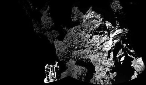 Philae's first pic from the surface of comet C-G.