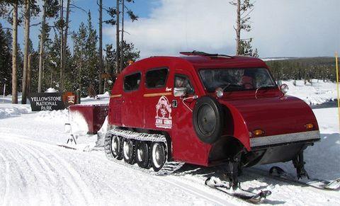 2. Vintage Bombardier Snow Coach