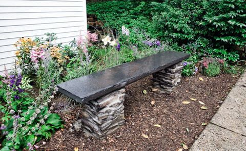 Incredible How To Build A Stone Garden Bench Squirreltailoven Fun Painted Chair Ideas Images Squirreltailovenorg