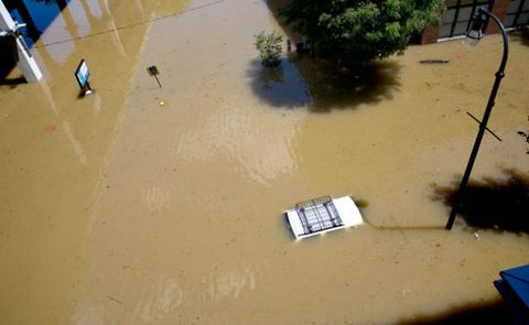 Eight days of rain submerged the city of Atlanta in September 2009