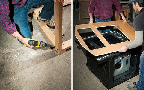How We Built a Bar Into an Arcade Table