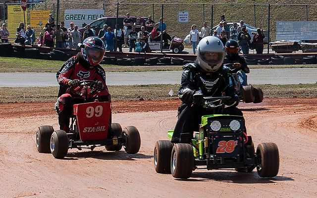 The Finely Manicured Madness of Lawnmower Racing