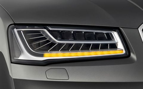 Frankfurt Auto Show Audi Lights The Way With Smart LED Headlight - Led car show lights
