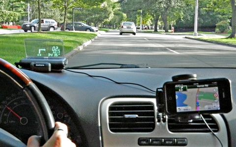 See-Through Navigation: Garmin's Phone-Driven HUD Unit