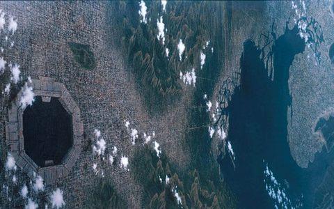 Agua, fenómeno geológico, árbol, formación, reflexión, hielo, mundo, fotografía aérea,
