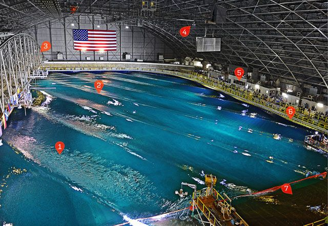 Wave Pool Where the Navy Tests Its Warships