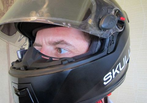823906a778f7 The HUD unit is a small square about the size of your thumbnail that sits  at cheekbone level when you re wearing the helmet. But because it s so  close