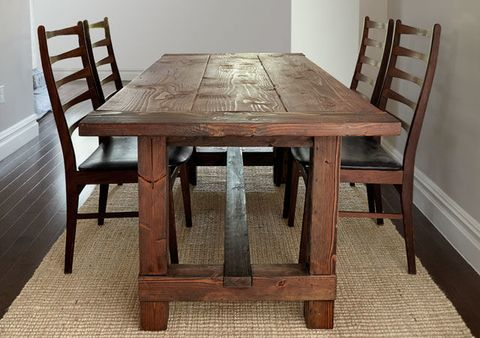 . Build This Rustic Farmhouse Table