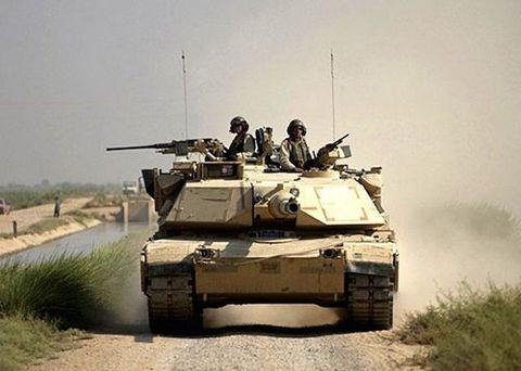 M1A1 in Iraq, 2004.