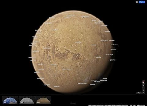 Use Google Maps on Mars and the Moon on