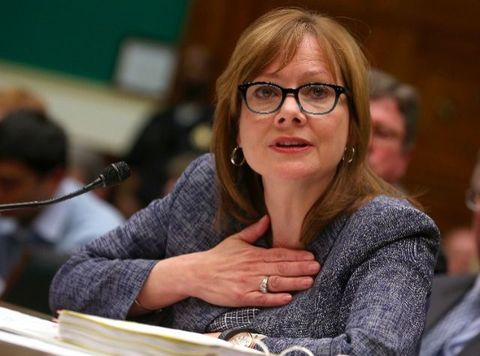 General Motors Company CEO Mary Barra testifies during a House Energy and Commerce Committee hearing on Capitol Hill.