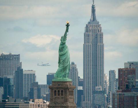 Shuttle Enterprise Flies Over NYC