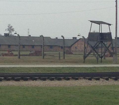 Auschwitz guard tower.