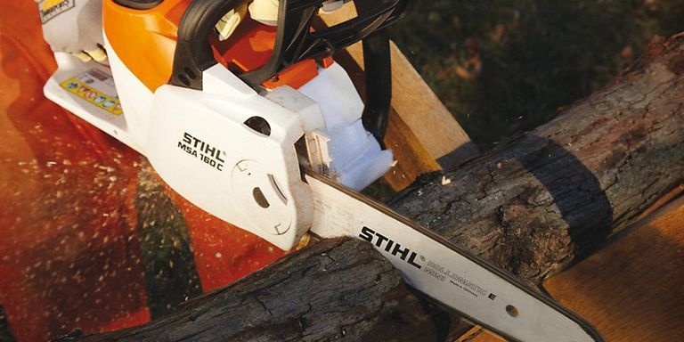 No gas no problem stihls battery powered tools get the job done but when he got his hands on stihls new line of 36v outdoor equipment including a chainsaw trimmer and blower keyboard keysfo Image collections