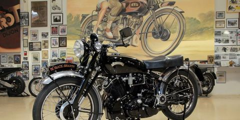 The fastest bike of its era, the Vincent Black Shadow is Jay's favorite motorcycle.