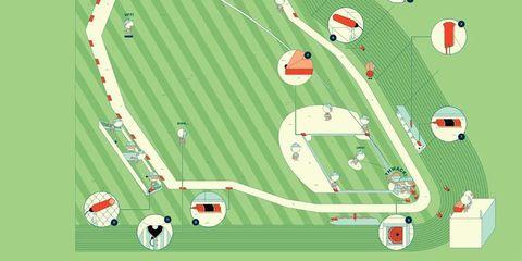Green, Grass, Red, Line, Plain, Urban design, Field, Design, Illustration, Coquelicot,