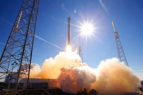 Falcon 9 test launch.