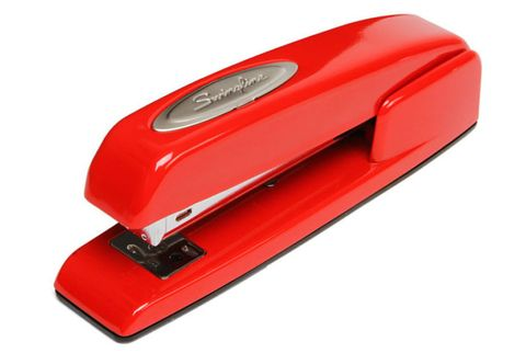 Household supply, Stapler, Parallel, Machine, Office equipment, Plastic, Household cleaning supply, Label,