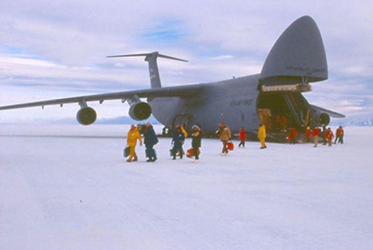 ice runway antarctica