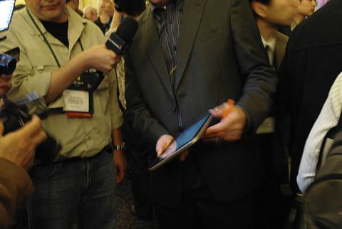 At CES Unveiled on Tuesday night, Lenovo's new tablet was the main crowd pleaser.