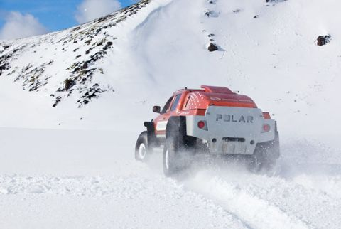 Thomson Reuters Polar Truck in Iceland.