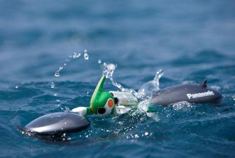 The swimming version of Evolta.