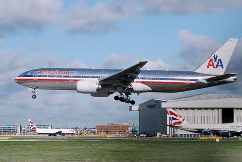 American Boeing 777-200ER.