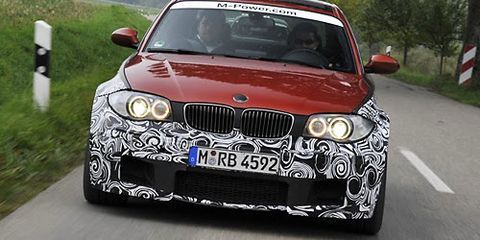 2012 BMW 1-Series M Coupe Prototype Test Drive - 2012 BMW 1-Series M ...