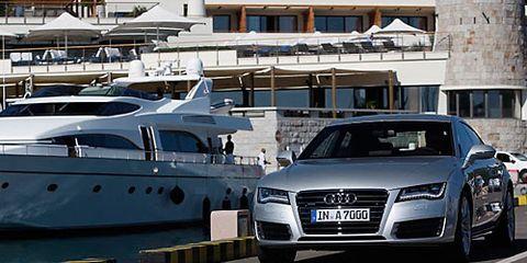 Mode of transport, Automotive design, Vehicle, Grille, Car, Watercraft, Automotive mirror, Audi, Luxury yacht, Personal luxury car,