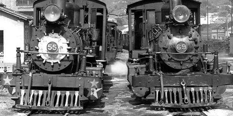 Transport, Machine, Steam engine, Monochrome photography, Black-and-white, Iron, Train, Gas, Smoke, Engineering,