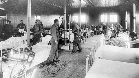 hospital during 1918 flu pandemic