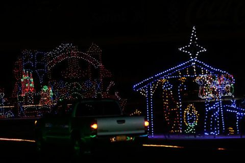 heres a nascar track covered in 3 million christmas lights