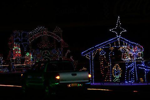Night, Darkness, Christmas decoration, Electricity, Light, Midnight, Holiday, Christmas lights, Christmas, Decoration,