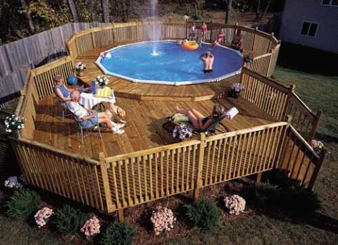 How to build a pool deck above ground pool deck plans - How long after pool shock before swim ...