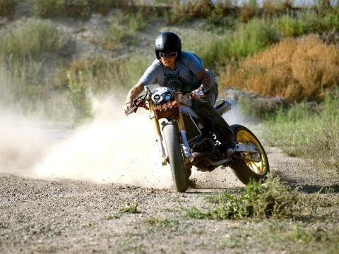 Roland Sands riding his custom CR500