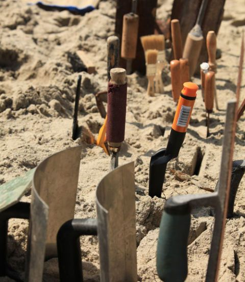 Tool, Sand, Shadow, Ash, Tool accessory, Screw extractor, Cylinder, Ammunition,