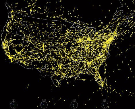 End Of Flight Delays FAAs GPS Fix Could Bust Sky Gridlock - Us air traffic map