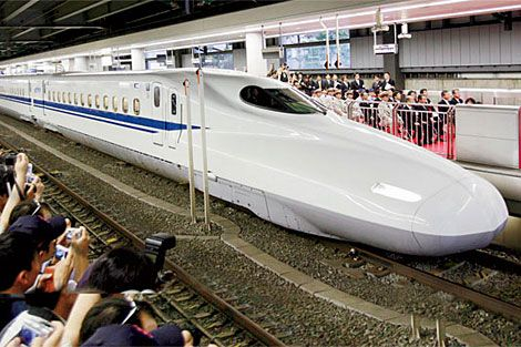Japanese Trains Can Travel In Excess Of What Speed