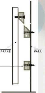 A More Reliable Method Is To Use The Time Honored French Cleat System That Uses Two Beveled Lengths Of Wood Top Block Ed Hanging