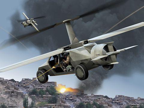 flying car sketch