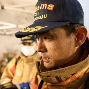Hasil gambar untuk japanese  man fire officer