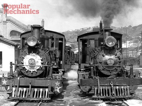 Transport, Machine, Steam engine, Monochrome photography, Black-and-white, Iron, Train, Gas, Smoke, Engineering,