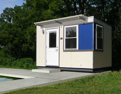 tiny microcabana modular home by m finity that sits on the edge