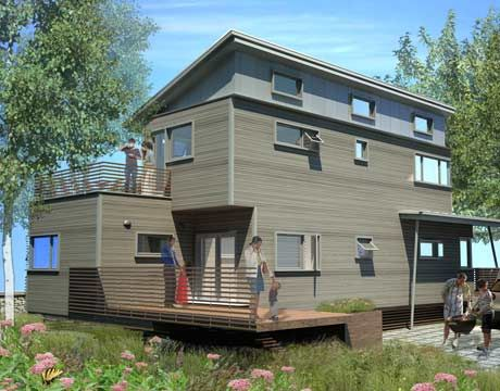 Green Building Prefabricated Home That Won A Design Competition To Rebuild  New Orleans.