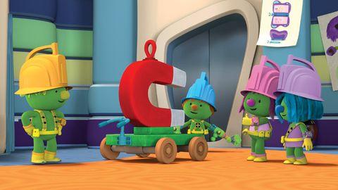 Animation, Toy, Cartoon, Fictional character, Plastic, Animated cartoon, Baby toys, Fiction,