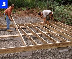 E The Joists 16 In On Center And Secure Them With 16d Galvanized Nails Before Nailing Down Plywood Floor Frame Four
