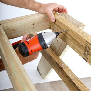 Picnic Table Plans How To Build A Picnic Table - Popular mechanics picnic table