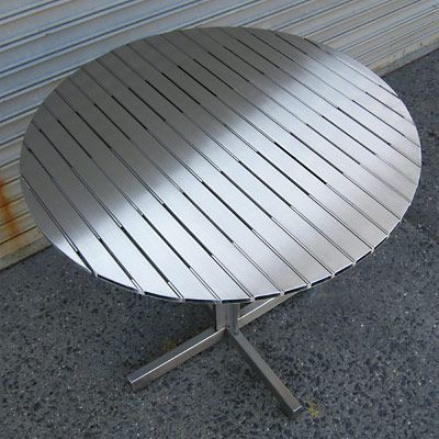 metal furniture plans. Stainless Steel Cafe Table Plans - Step By DIY Metal Furniture \