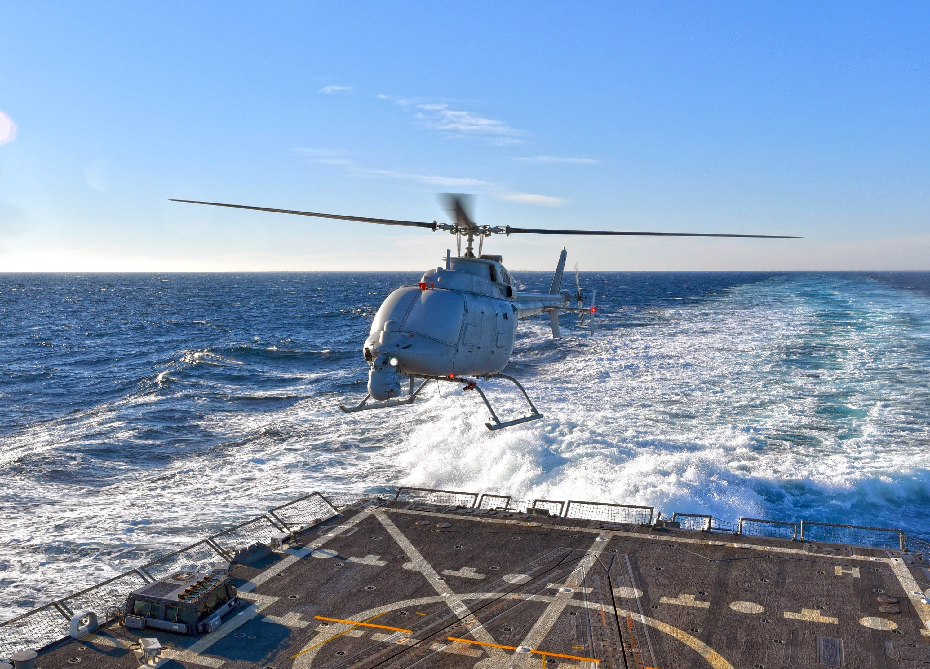 Here Is The Navys Full Size Drone Helicopter Taking Off By Itself