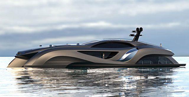 This $25 Million Yacht Looks Like the Batmobile